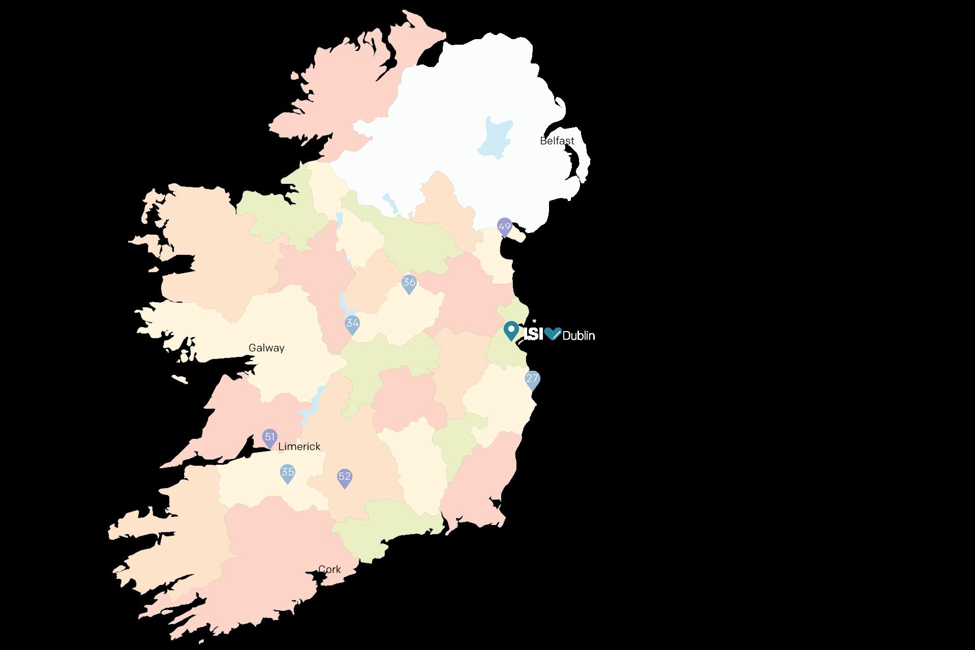 School locations in Ireland